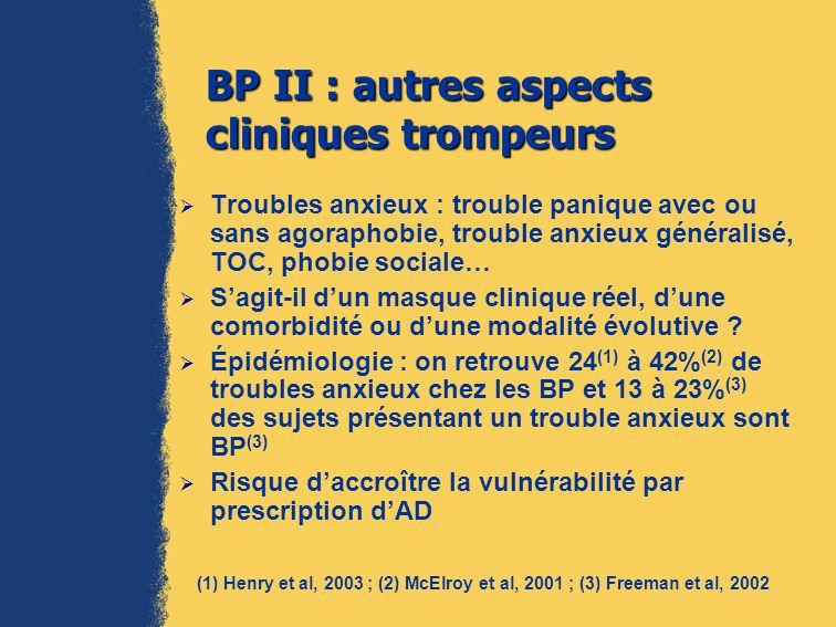 BP II : autres aspects cliniques trompeurs