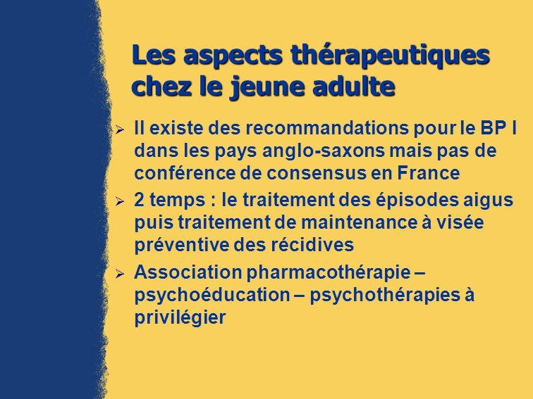 Les aspects thérapeutiques chez le jeune adulte