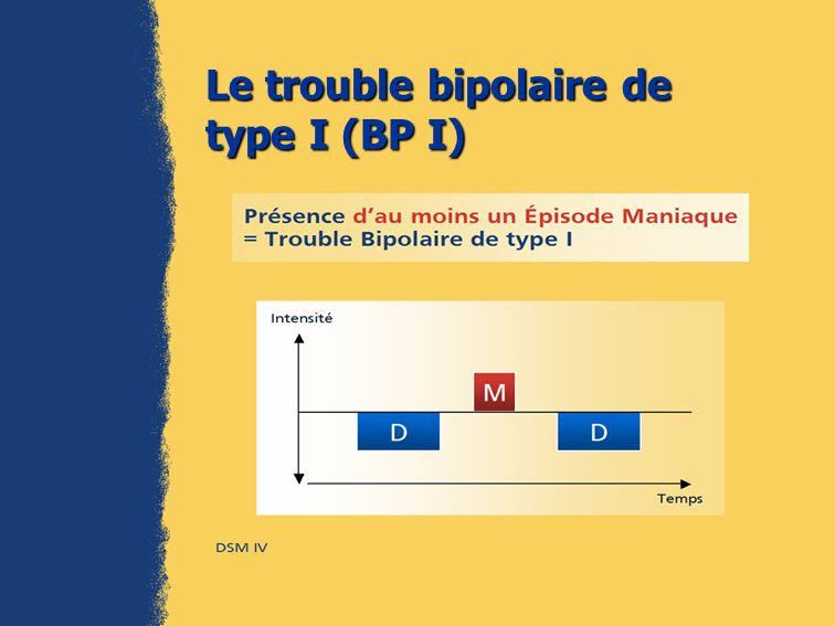 Le trouble bipolaire de type I (BP I)