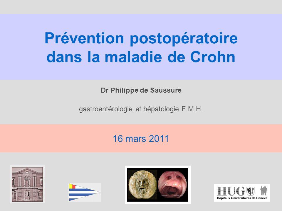 Prévention postopératoire dans la maladie de Crohn