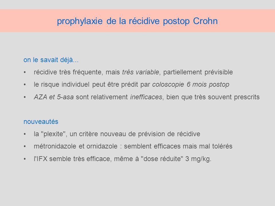 prophylaxie de la récidive postop Crohn