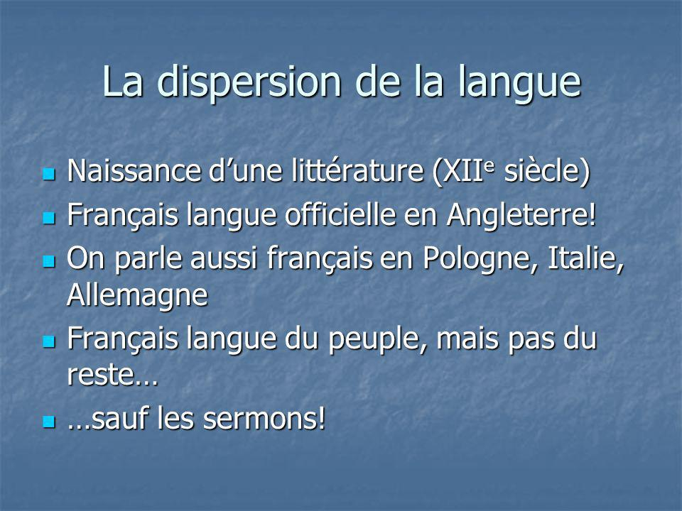 La dispersion de la langue