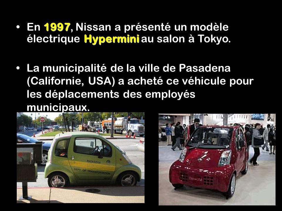 En 1997, Nissan a présenté un modèle électrique Hypermini au salon à Tokyo.