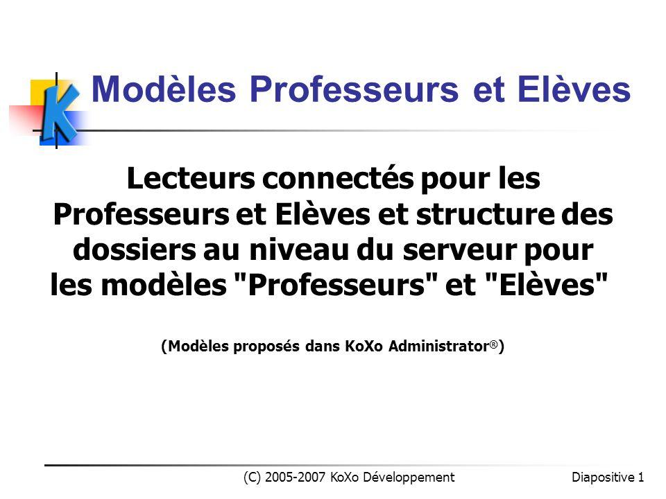 Modèles Professeurs et Elèves