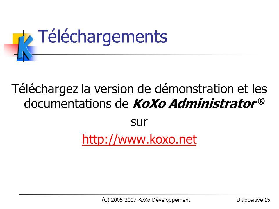 (C) 2005-2007 KoXo Développement