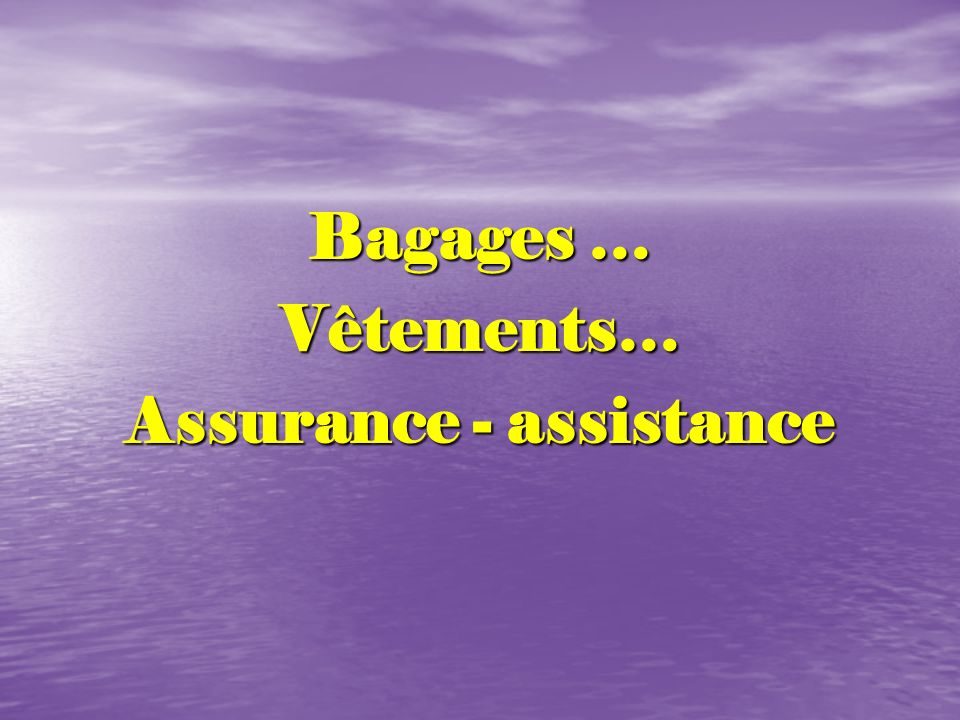 Assurance - assistance