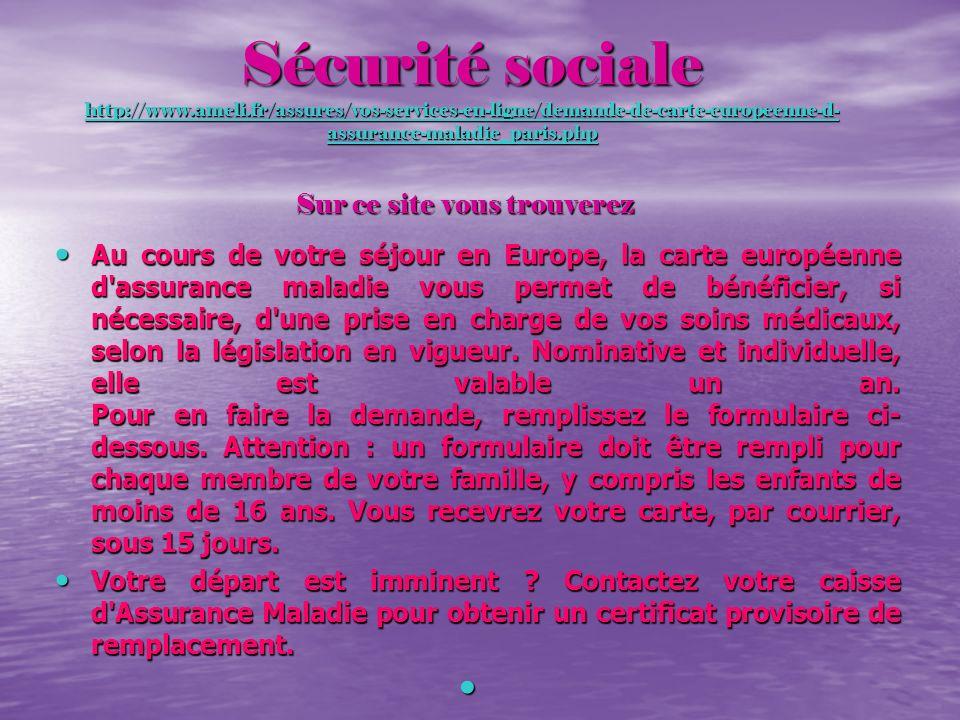 Sécurité sociale http://www. ameli