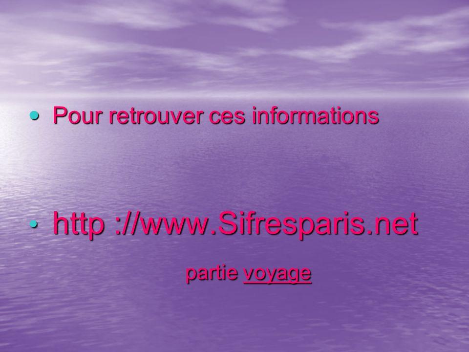 partie voyage http ://www.Sifresparis.net