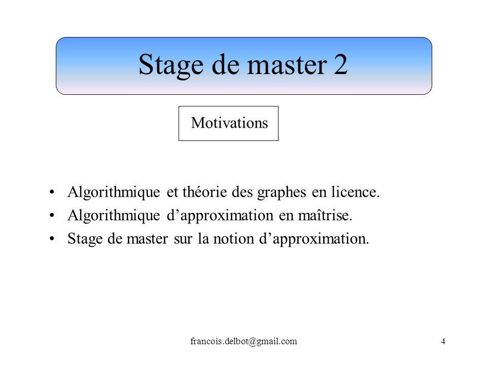 Stage de master 2 Motivations