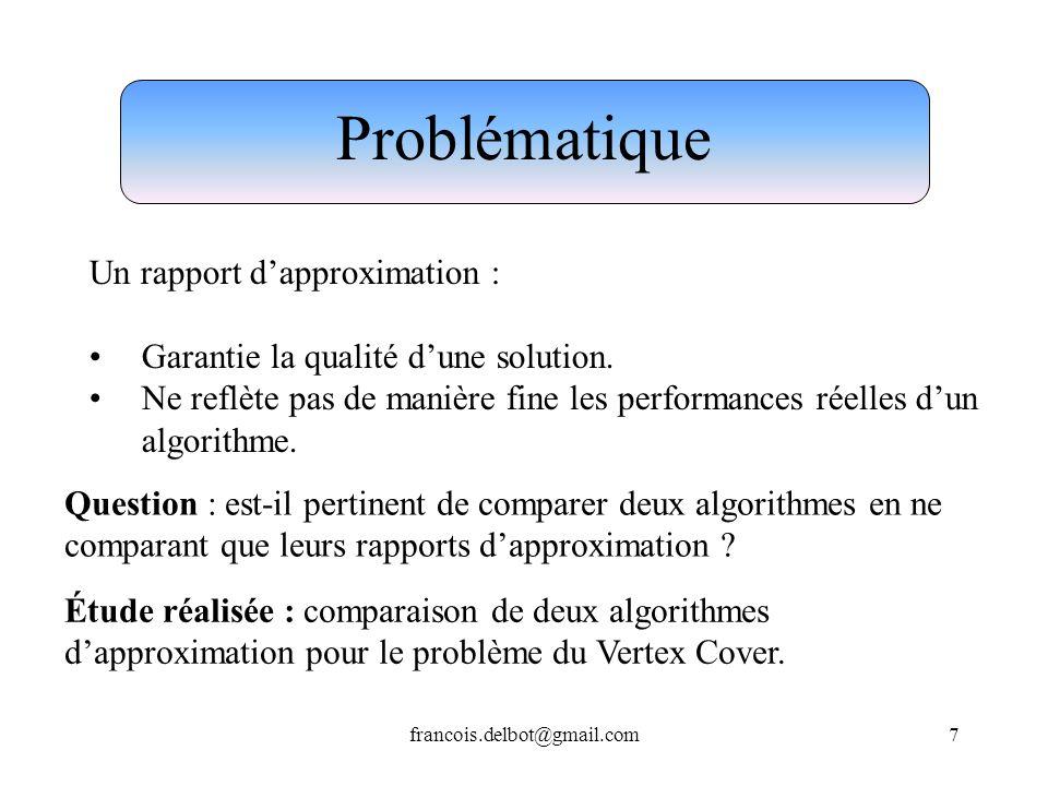 Problématique Un rapport d'approximation :