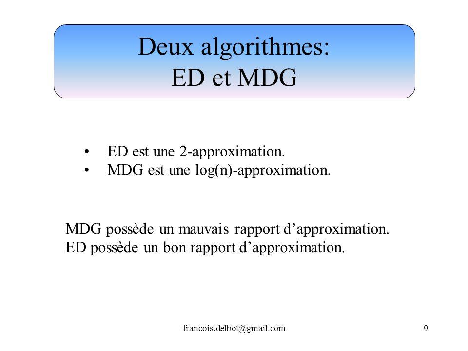 Deux algorithmes: ED et MDG