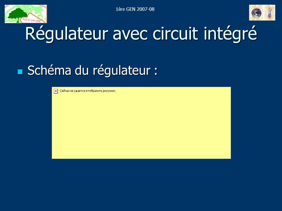 Régulateur avec circuit intégré
