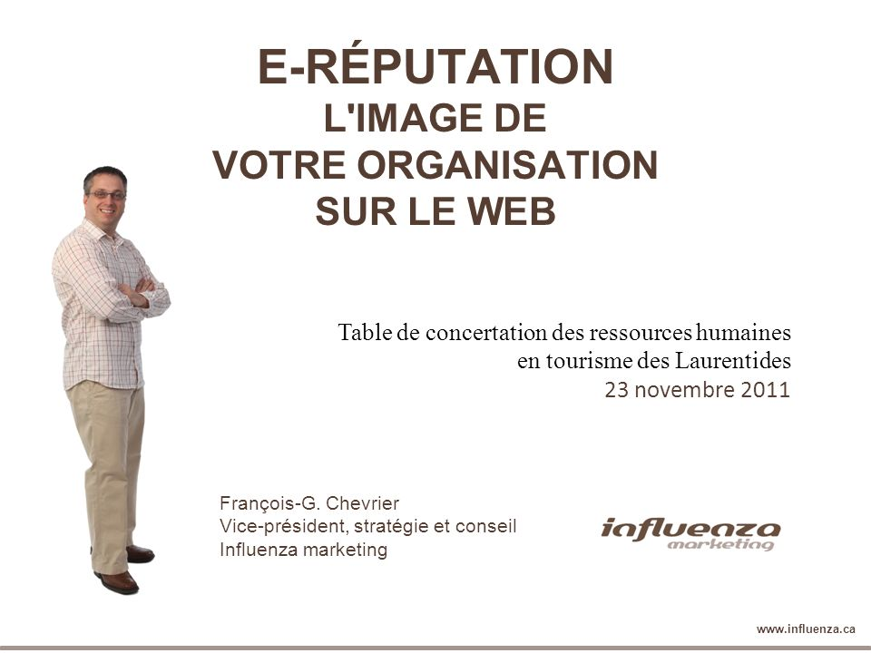 E-RÉPUTATION L IMAGE DE VOTRE ORGANISATION SUR LE WEB