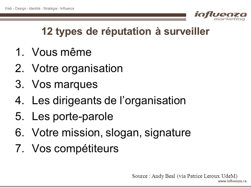 12 types de réputation à surveiller