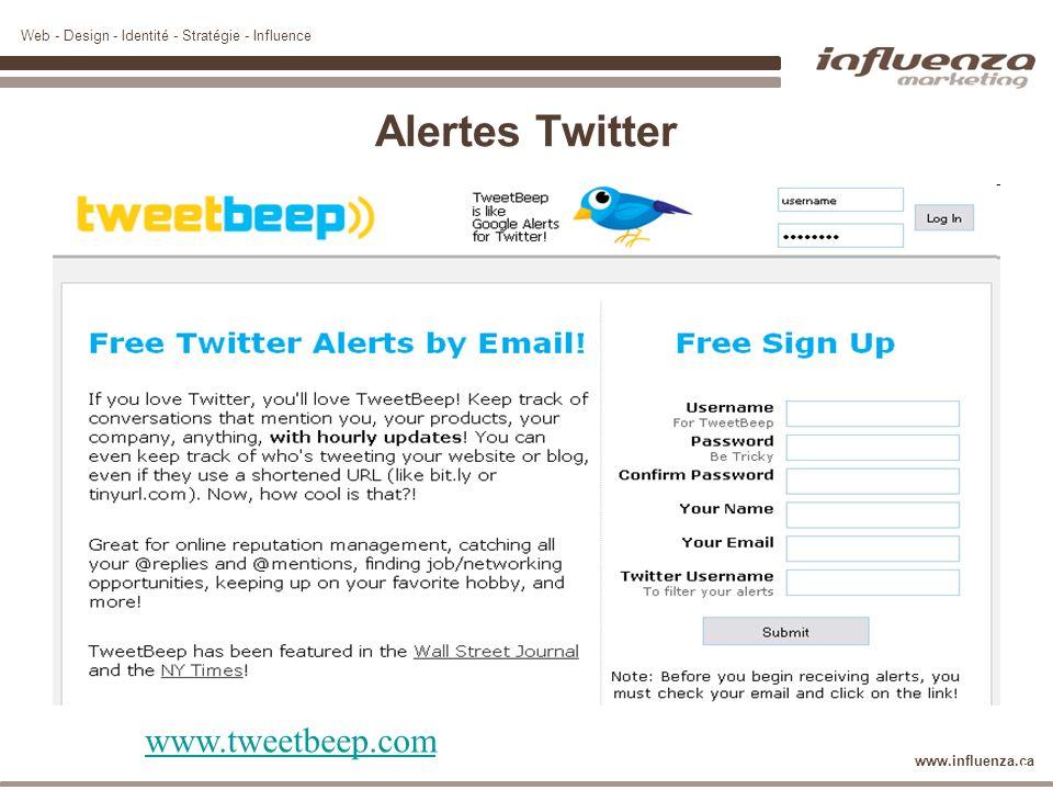 Alertes Twitter www.tweetbeep.com 36