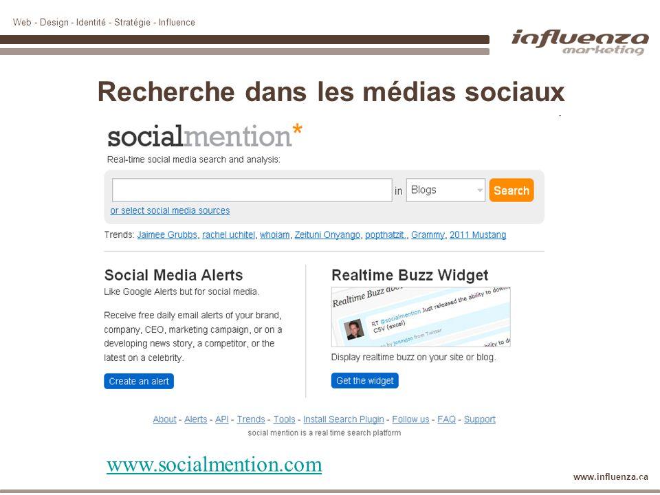 Recherche dans les médias sociaux