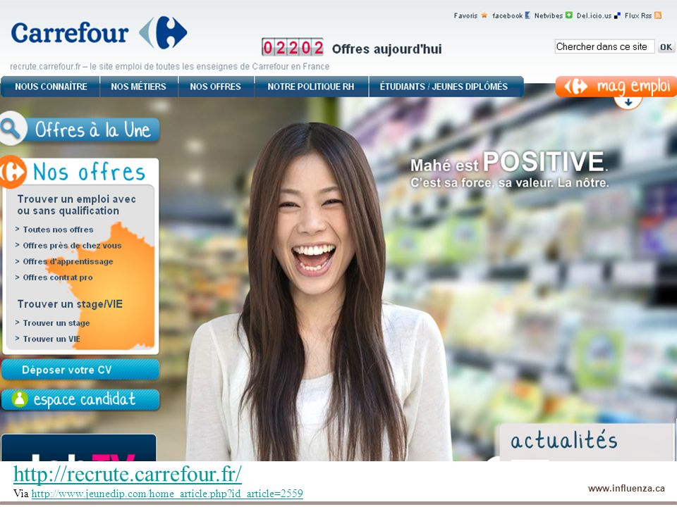http://recrute.carrefour.fr/ Via http://www.jeunedip.com/home_article.php id_article=2559