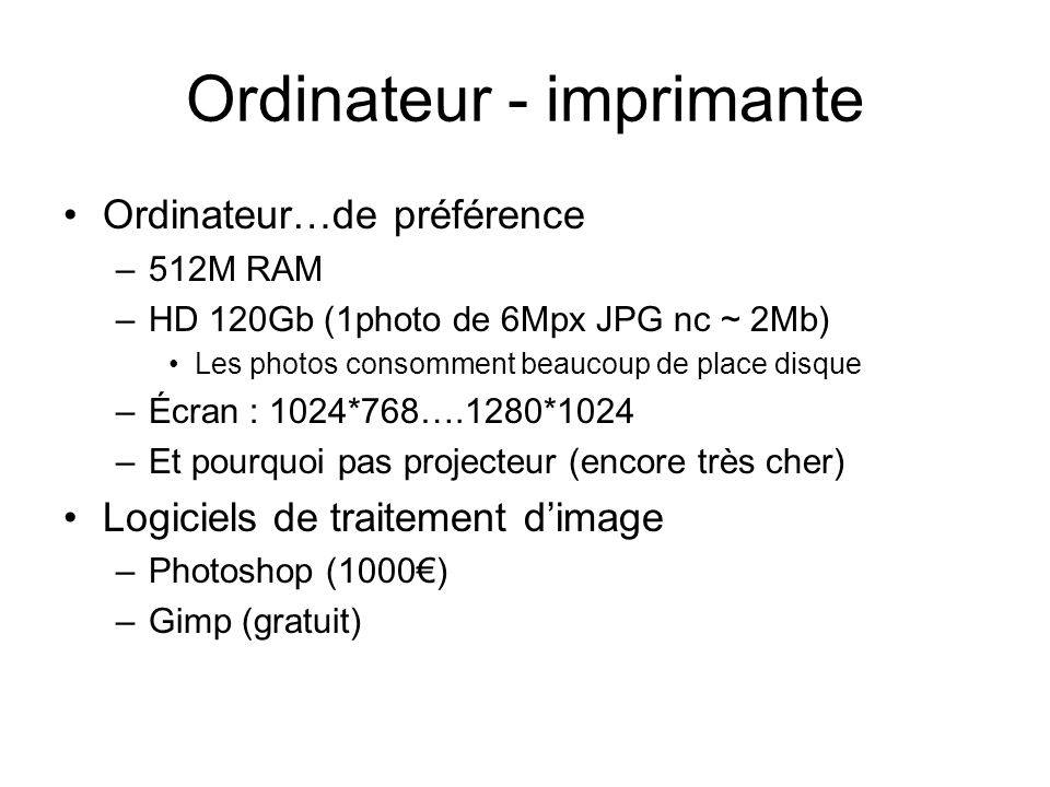 Ordinateur - imprimante