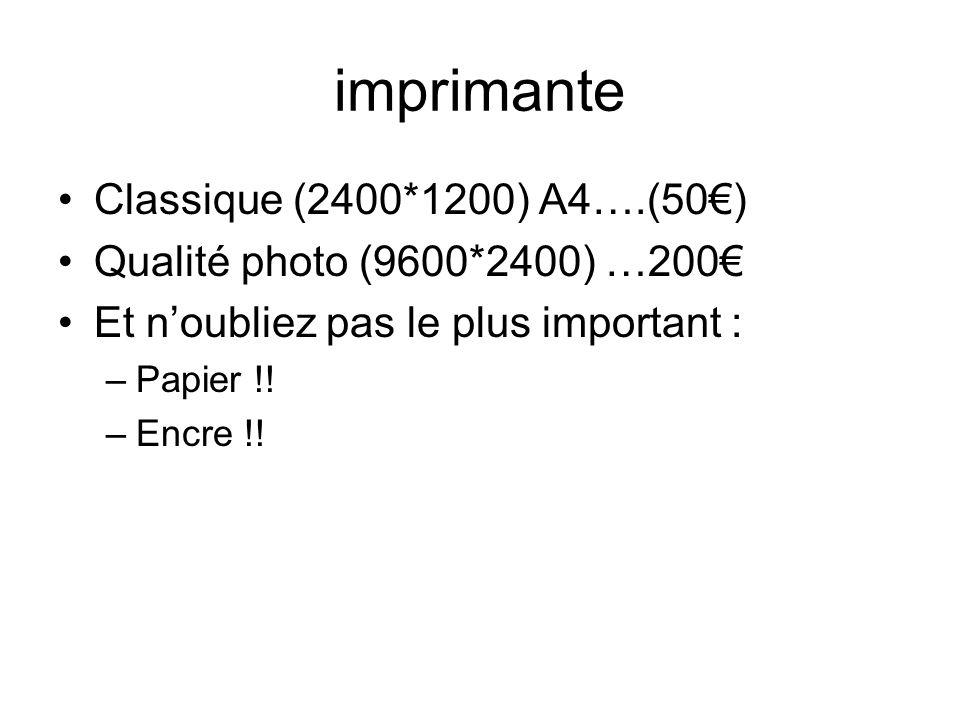imprimante Classique (2400*1200) A4….(50€)