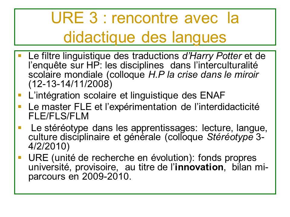 URE 3 : rencontre avec la didactique des langues