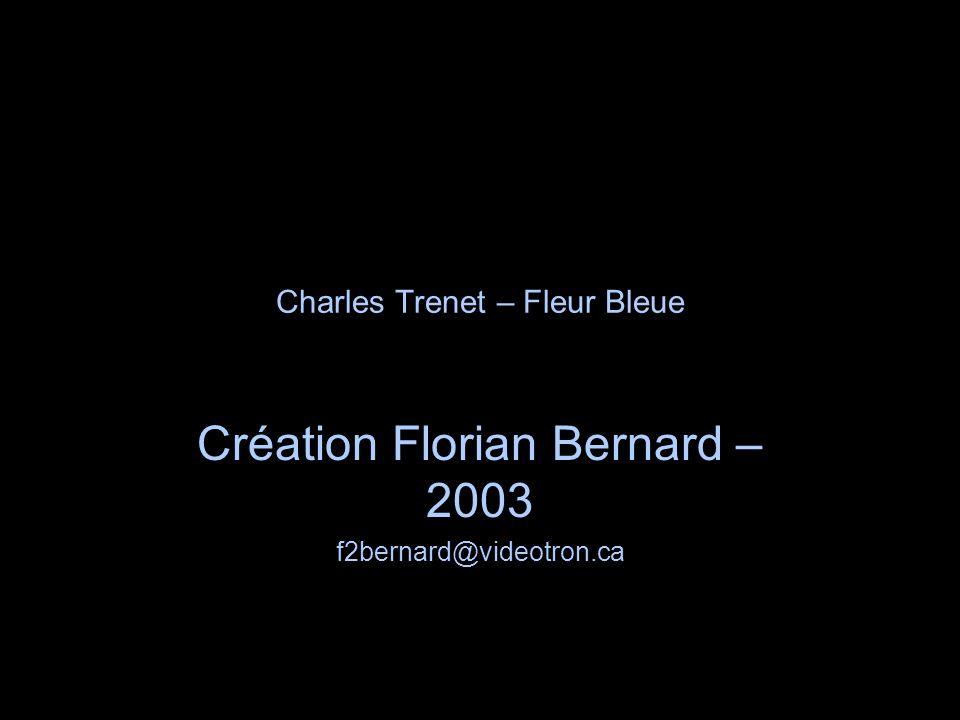 Charles Trenet – Fleur Bleue
