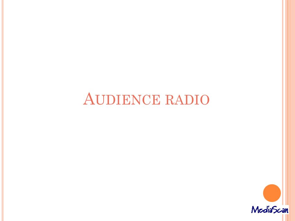Audience radio