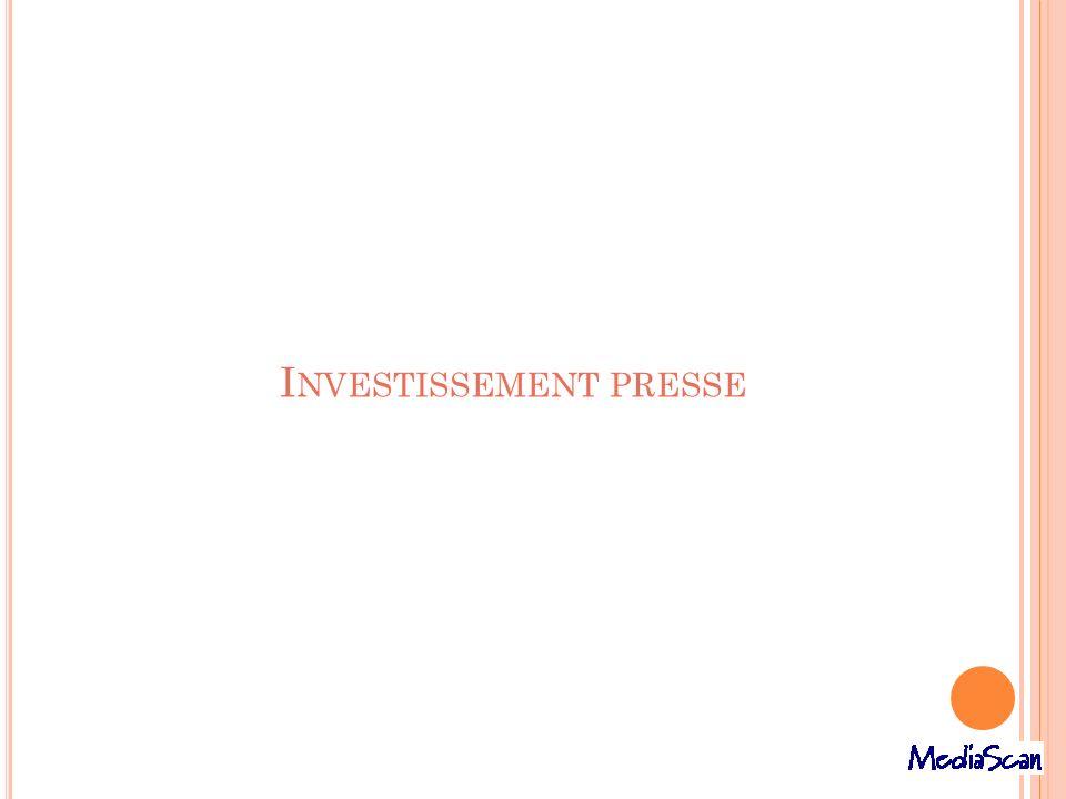 Investissement presse