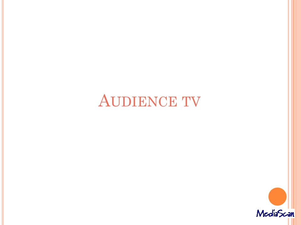 Audience tv