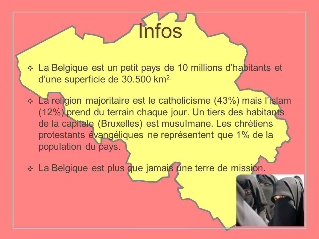 Infos La Belgique est un petit pays de 10 millions d'habitants et d'une superficie de 30.500 km2.
