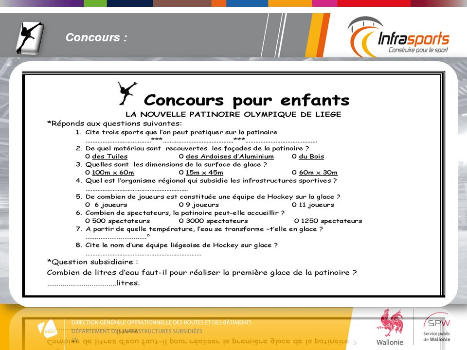 Concours :