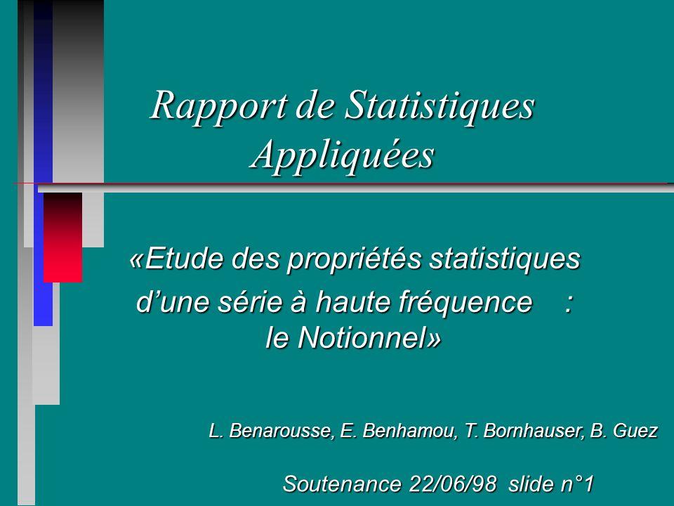 Rapport de Statistiques Appliquées