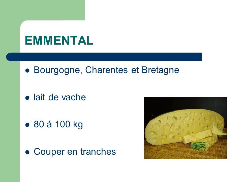 EMMENTAL Bourgogne, Charentes et Bretagne lait de vache 80 á 100 kg