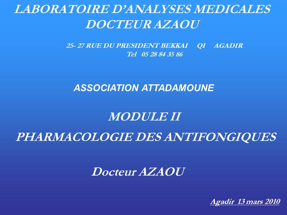 LABORATOIRE D'ANALYSES MEDICALES DOCTEUR AZAOU