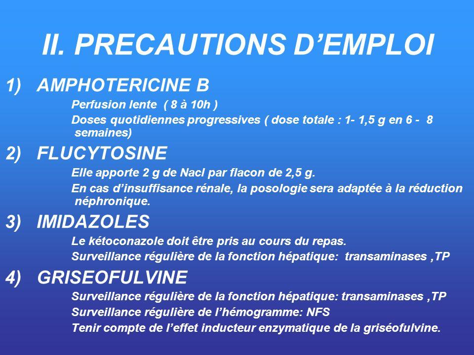 II. PRECAUTIONS D'EMPLOI