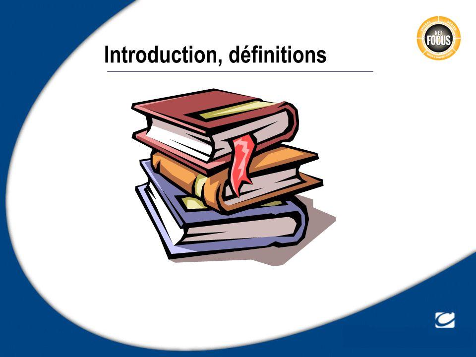Introduction, définitions