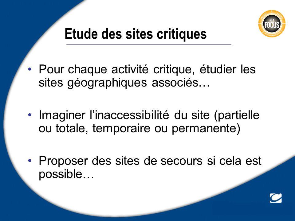 Etude des sites critiques