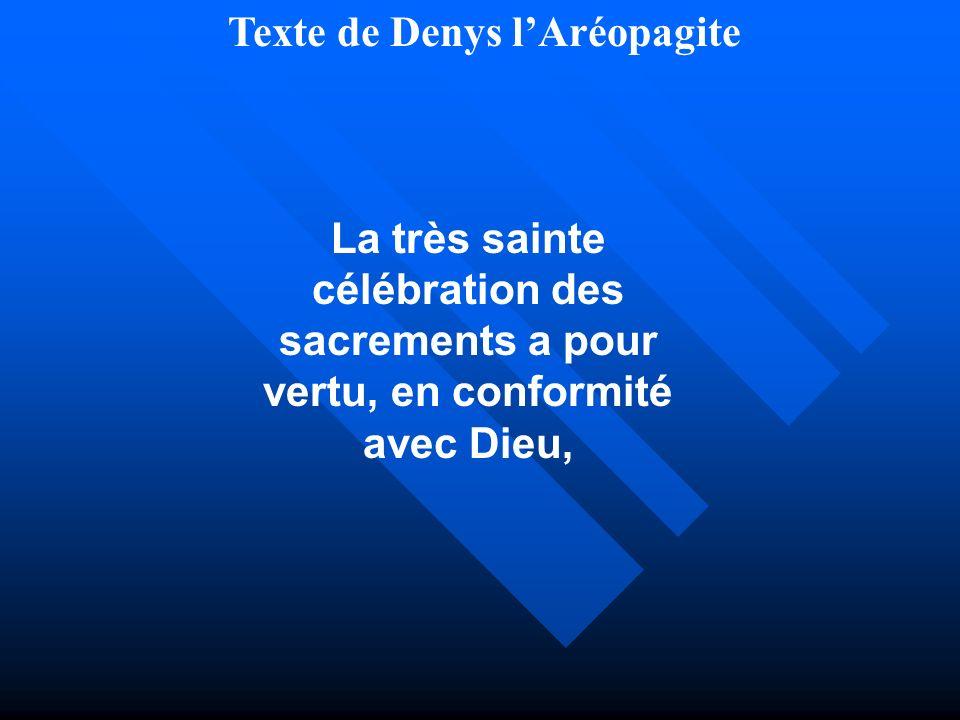 Texte de Denys l'Aréopagite