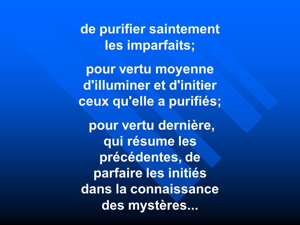 de purifier saintement les imparfaits;