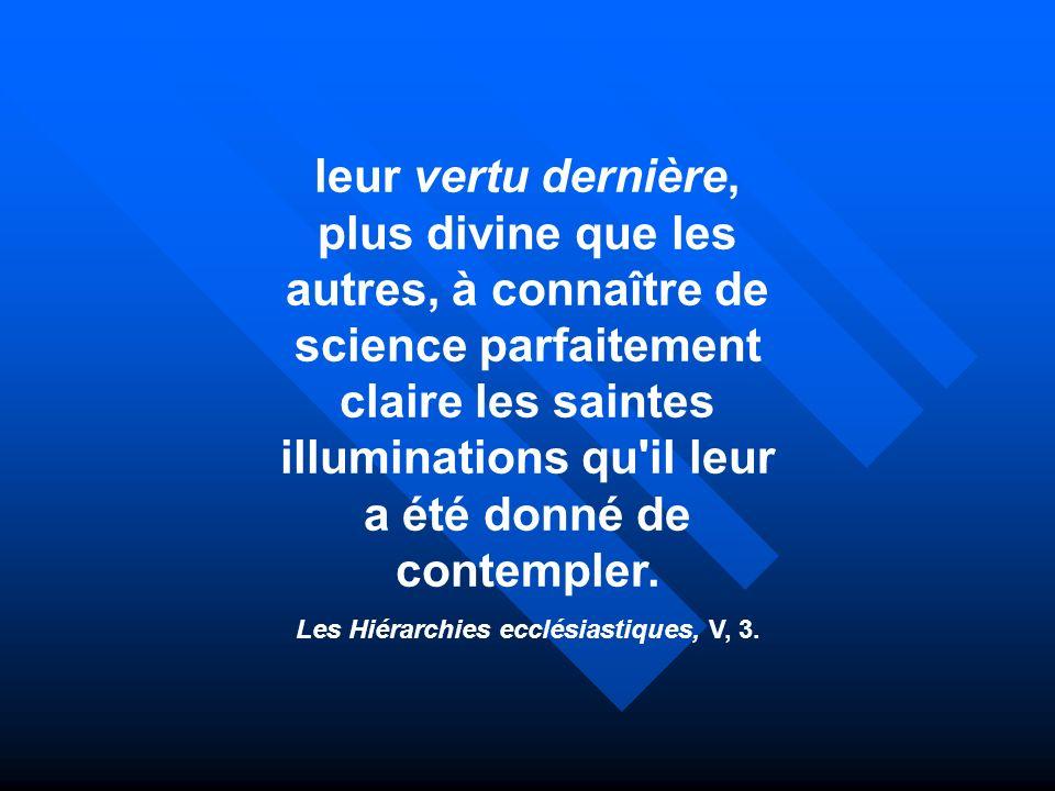 Les Hiérarchies ecclésiastiques, V, 3.