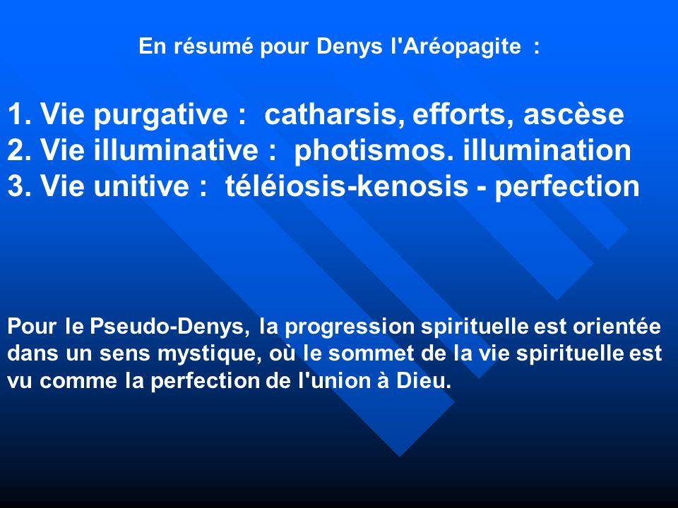 En résumé pour Denys l Aréopagite :