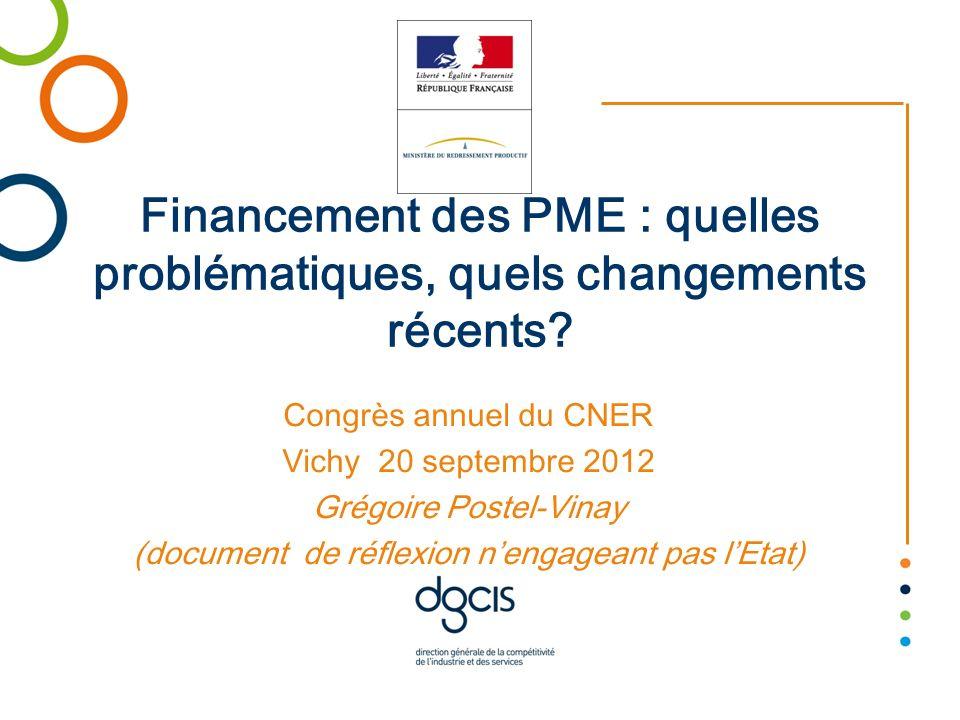 Financement des PME : quelles problématiques, quels changements récents
