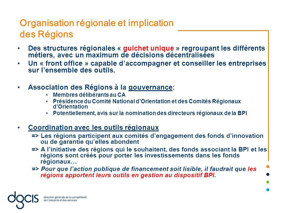Organisation régionale et implication des Régions