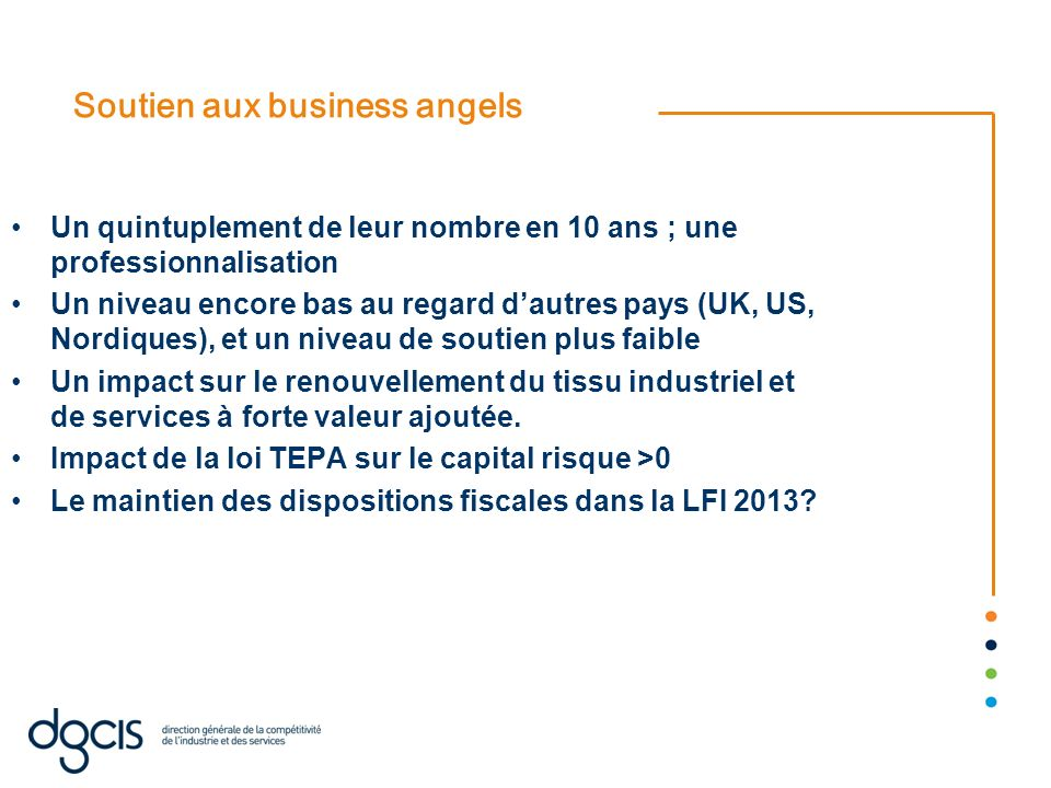 Soutien aux business angels