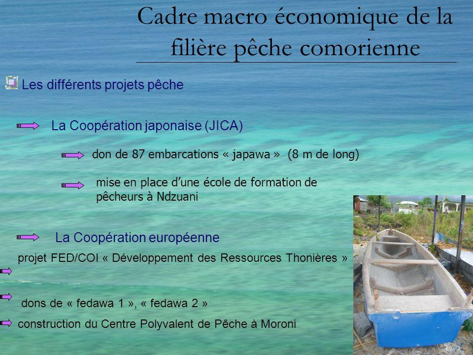 Cadre macro économique de la filière pêche comorienne