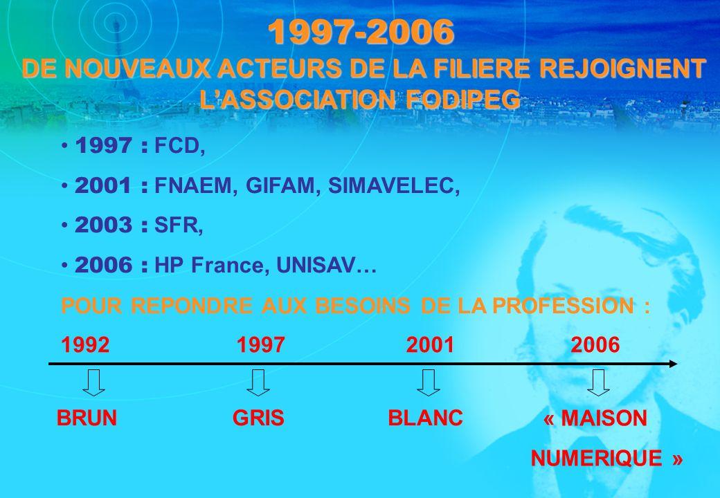 1997-2006 DE NOUVEAUX ACTEURS DE LA FILIERE REJOIGNENT L'ASSOCIATION FODIPEG