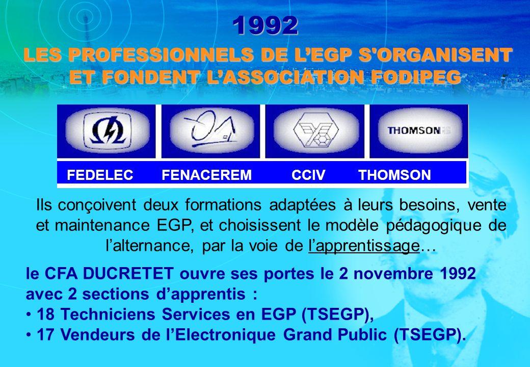 1992 LES PROFESSIONNELS DE L'EGP S ORGANISENT