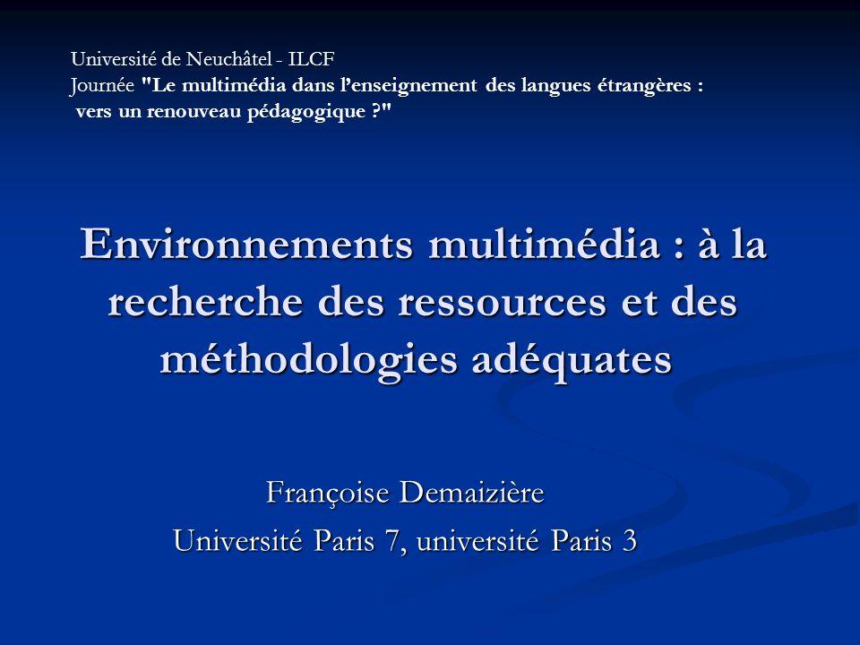 Françoise Demaizière Université Paris 7, université Paris 3
