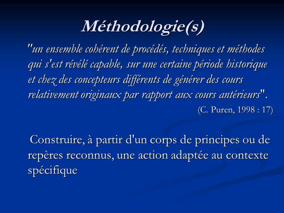 Méthodologie(s)