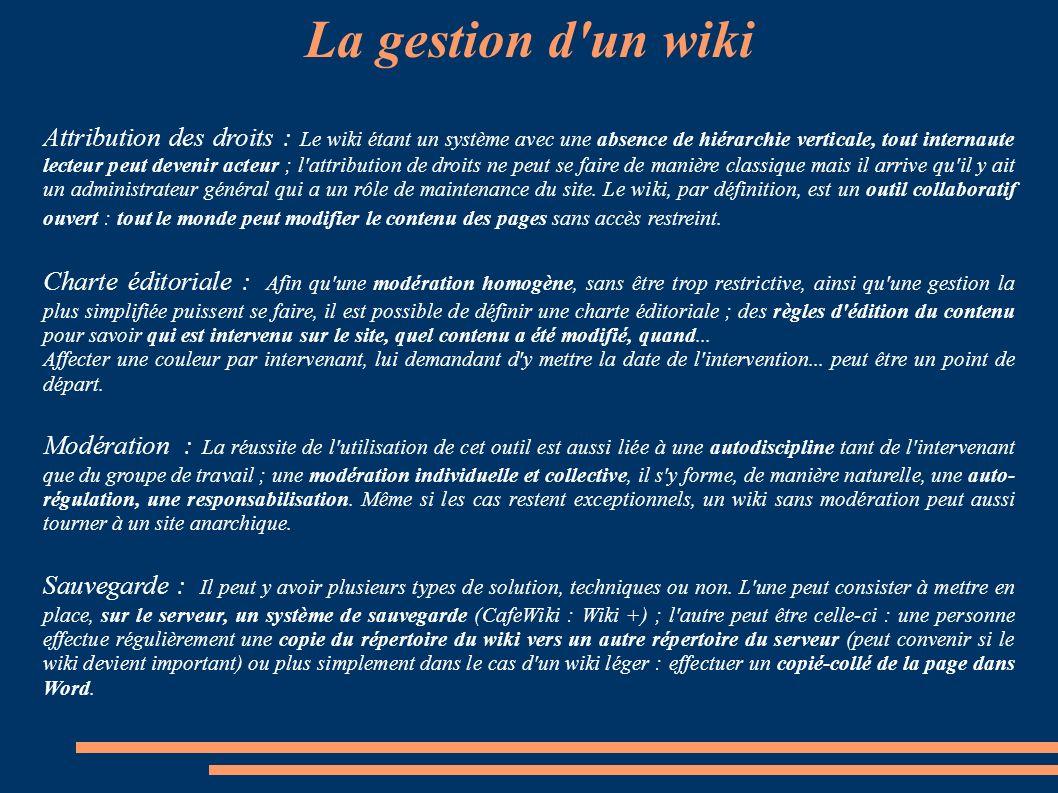 le wiki   outil de travail collaboratif