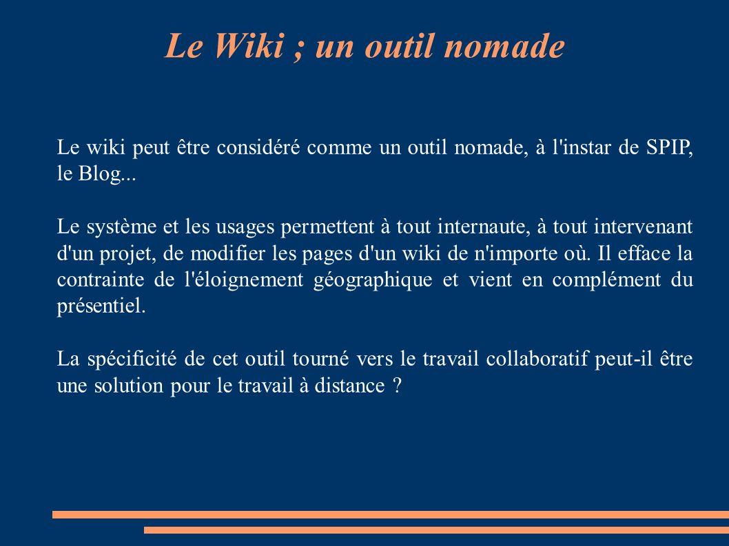 Le Wiki ; un outil nomade